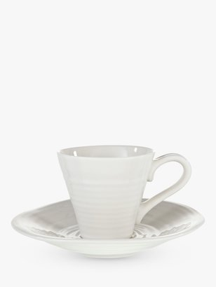 Sophie Conran For Portmeirion for Portmeirion Espresso Cup and Saucer, White, Pack of 2