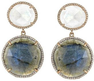 Irene Neuwirth moonstone double drop earring