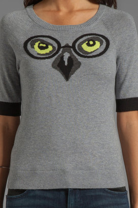 Milly June Knits Winston Intarsia Owl Sweater