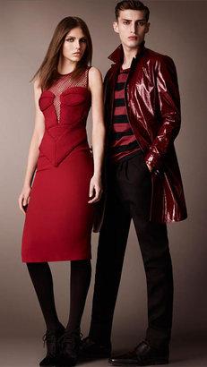 Burberry Engineered Body Silk Crêpe Dress