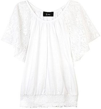 Amy Byer B•Wear Byer Girl Top with Lace Batwing Sleeves - Girls 7-16