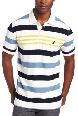 Nautica Men's Big-Tall Multi Stripe Short Sleeve Polo Shirt