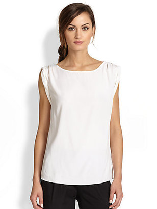Alice + Olivia Rolled-Sleeve Tunic Top