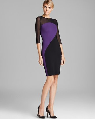 Erin Fetherston ERIN Three Quarter Sleeve Color Block Dress - Piper