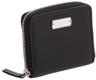 Gucci black leather mini zip coin pouch