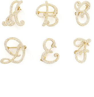 Tai Cubic Zirconia Initial Pin, Gold