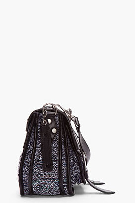 Proenza Schouler Black Tweed Leather-Trimmed PS1 Pouch