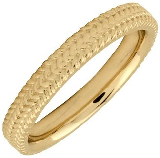 Simply Stacks Sterling 18K YellowGold-Plated 3.25mm Braid Rin