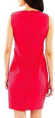 Liz Claiborne Eyelet Sheath Dress - Petite
