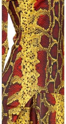 Just Cavalli Python Long Sleeve Dress
