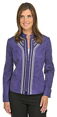 TanJay Faux-Suede Zip-Front Jacket