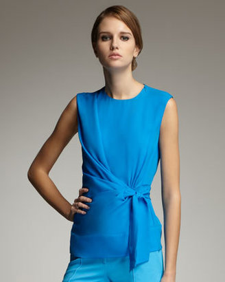 Diane von Furstenberg Grandie Silk Blouse, Sailor Blue