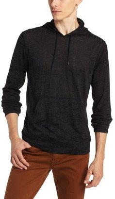 John Varvatos Men's Burnout Hoody with Front Pocket