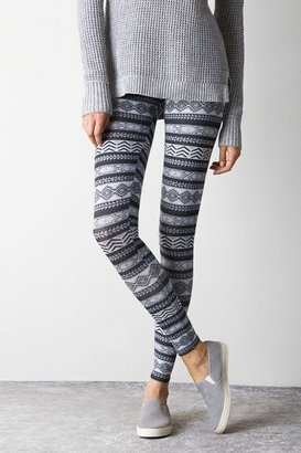 American Eagle Outfitters Black Mixed Print Legging, Womens Small