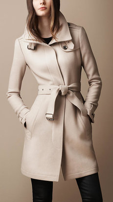 Burberry Belted Collar Wool Coat