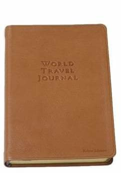 Graphic Image Personalized World Travel Journal