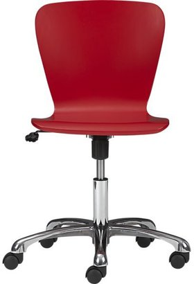 Crate & Barrel Felix Red Office Chair