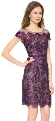 Monique Lhuillier Illusion Chantilly Lace Dress