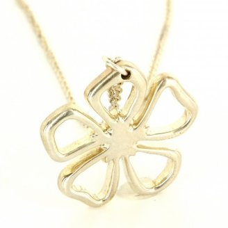 Tiffany & Co. very good (VG) Estate Designer Sterling Silver Flower Pendant Necklace Fine Jewelry