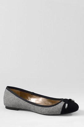 Lands' End Women's Emma Classic Captoe Ballet Shoes