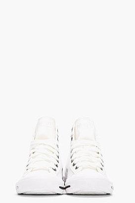 Diesel white Leather Exposure Sneakers