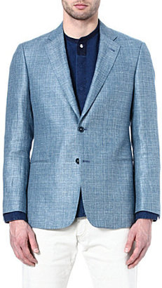 Armani Wool and linen-blend blazer