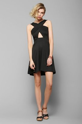 Urban Outfitters Pins And Needles Cross-Front Skater Dress