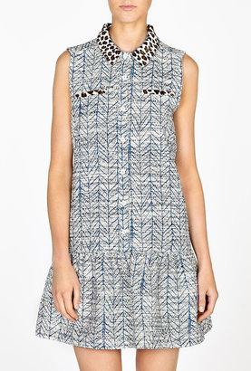 Sea Combo Print Shirt Dress