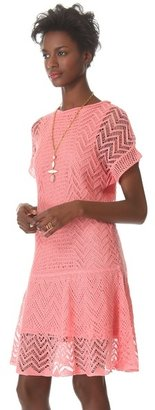 Thakoon Crochet Short Sleeve Dress