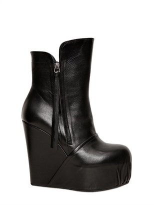 Bruno Bordese 130mm Nappa Leather Wedge Boots