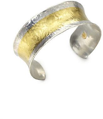 Gurhan Sterling Silver & 24K Yellow Gold Cuff Bracelet