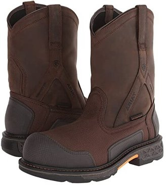 Ariat Overdrive XTR Pullon H20 (Brown Cordura/Oily Distressed Brown) Men's Work Boots