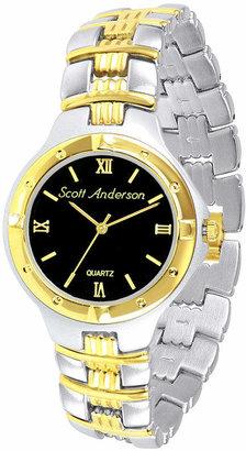 Fine Jewelry Mens Two-Tone Personalized Watch