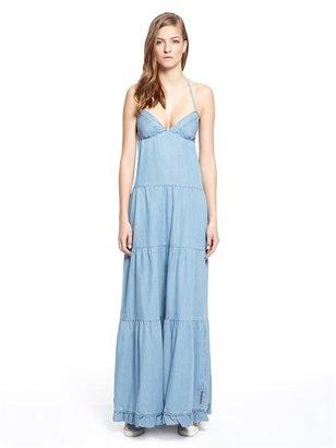 DKNY Denim Maxi Dress