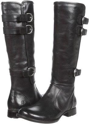 Børn Attila (Black Burnished Leather) - Footwear