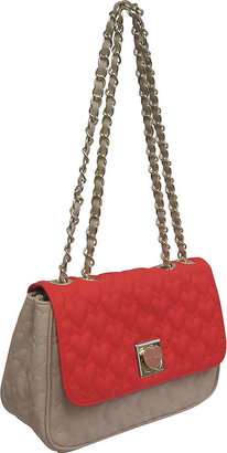 Betsey Johnson Be My One & Only Flap-Over Shoulder Bag