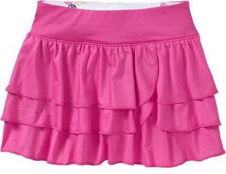 Old Navy Girls Tiered Mesh Skorts