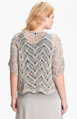 Eileen Fisher Open Stitch Pullover Sweater (Plus Size)