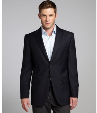 Joseph Abboud navy super 120s wool two button jacket