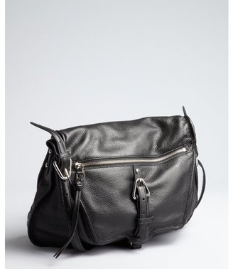 Kooba black leather 'Troi' shoulder bag