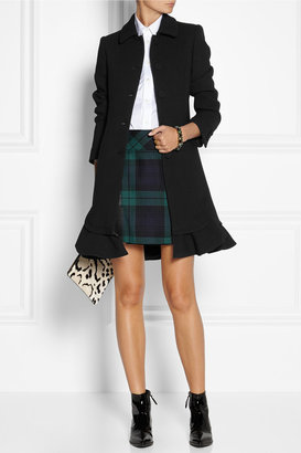Moschino Ruffled wool-crepe coat