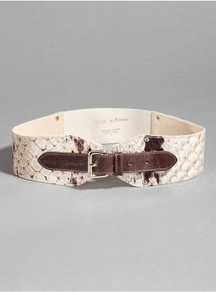 GUESS by Marciano Alysia Snake-Embossed Belt