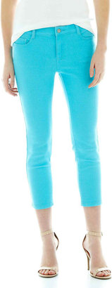 Joe Fresh Slim-Fit Color Cropped Jeans