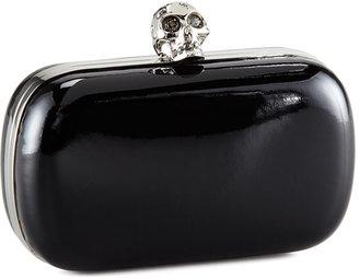 Alexander McQueen Classic Skull-Clasp Clutch Bag