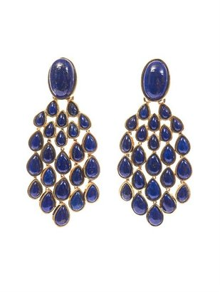 Aurelie Bidermann Cherokee lapis and gold-plated earrings