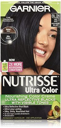 Garnier Nutrisse Ultra Color Nourishing Color Creme, BL21 Reflective Blue Black $7.99 thestylecure.com