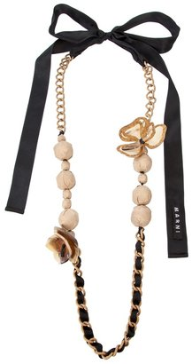 Marni Ribbon and chain necklace