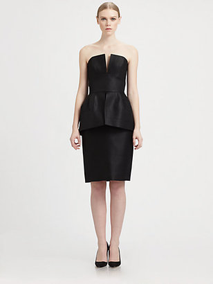 Martin Grant Strapless Peplum Dress