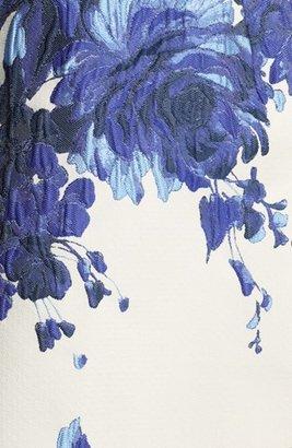 Valentino Long Sleeve Flared Skirt Dress