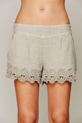 Free People Easy Pleat Lacy Short